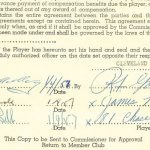 1957 Jim Brown rookie contract