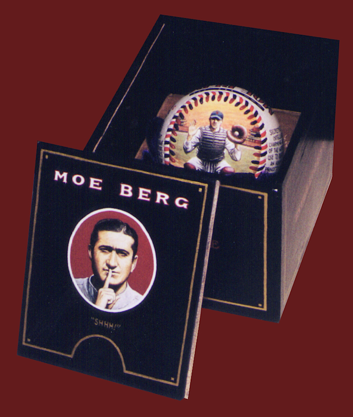 Painted cigar box Moe Berg