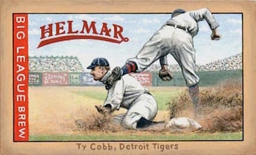 Ty Cobb Helmar original painting