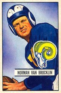 1951 Bowman Norm Van Brocklin