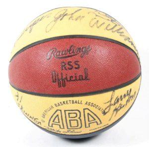 Autographed ABA New York Nets basketball