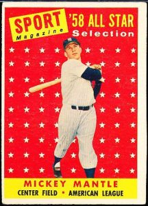 Mickey Mantle 1958 Topps All-Star