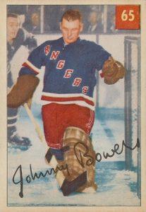 1954-55-Parkhurst-Hockey-Johnny-Bower-RC