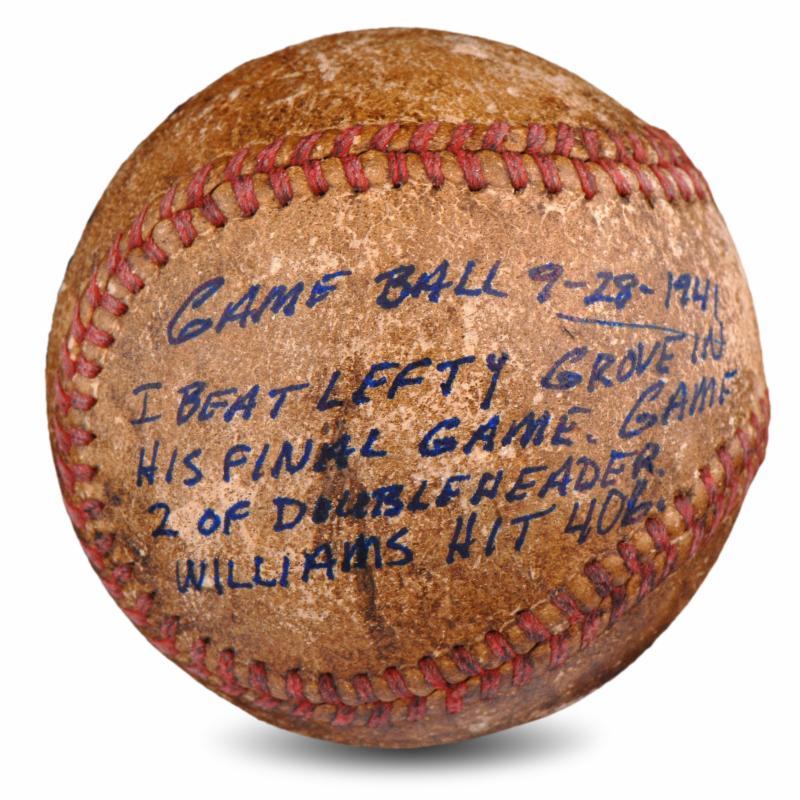 1941 Ted Williams game used baseball