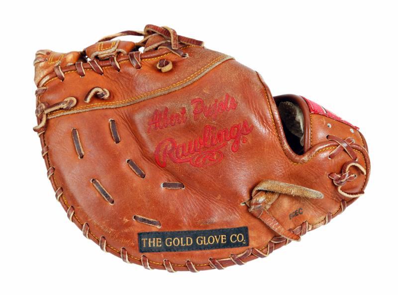 Albert Pujols game used first basemans mittt