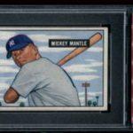 Mickey Mantle 1951 Bowman PSA 8