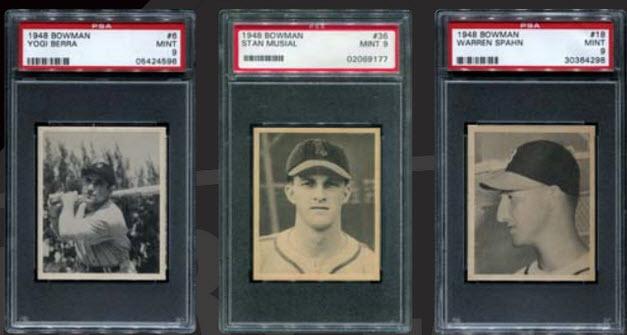 Bowman 1948 PSA 9 lot