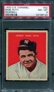 Babe Ruth 1932 US Caramel