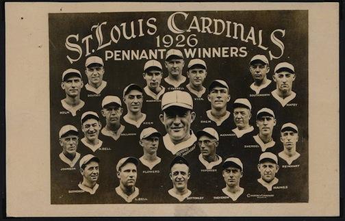 Real photo postcard of the 1926 Saint Louis Cardinals