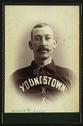 1890s baseball player cabinet card with a vignetted image.