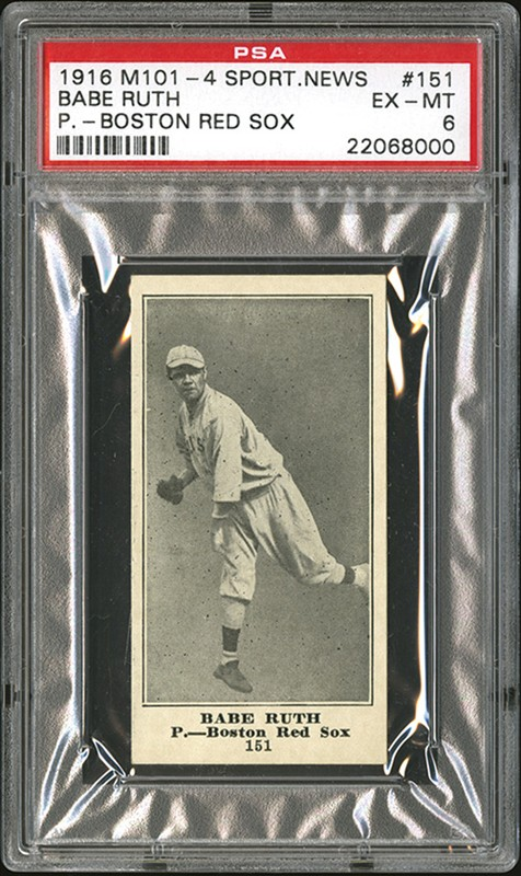 1916 Sporting News Babe Ruth PSA 6