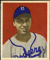 Gil Hodges rookie card 1949 Bowman