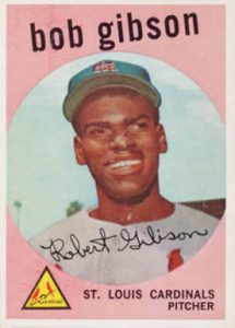 Bob Gibson rookie card 1959 Topps