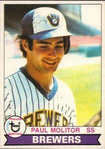 Paul Molitor 1979 Topps