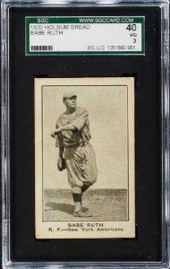 Babe Ruth 1921 Holsum Bread