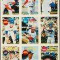 Topps 1968 3-D uncut proof sheet