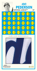Punchboard Relic 2015 Topps Heritage High Joc Pederson
