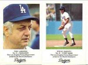 1982 Dodgers police set