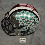 Game-worn Ohio State Chrome helmet