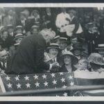 President Warren Harding signing baseball 1922