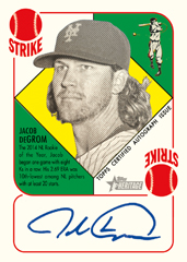 Autograph Jacob DeGrom 2015 Topps Heritage 51
