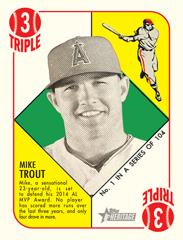 Mike Trout 2015 Topps Heritage 51