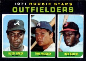 Don Baylor Dusty Baker rookie card 1971 Topps