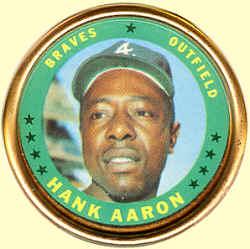 1971 Topps Hank Aaron coin