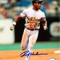 Signed Rickey Henderson photograph