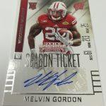 Melvin Gordon 2015 Panini Contenders Football Melvin Gordon autograph