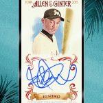 2015 Allen Ginter Topps Ichiro autograph