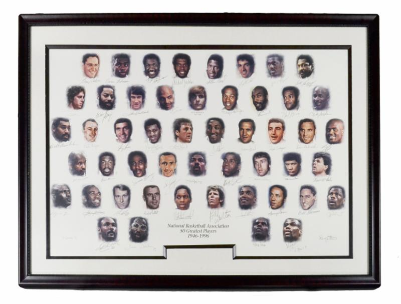 NBA 50 Greatest Players Lithograph