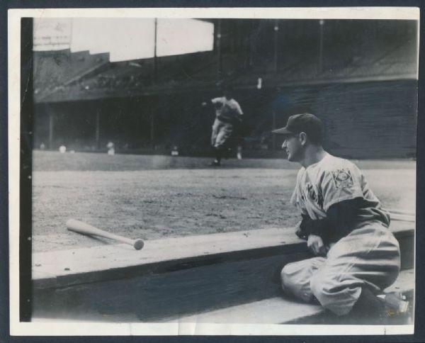 1939 Lou Gehrig streak ends photograph