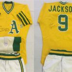 Game-worn Reggie Jackson uniform 1974 Athletics