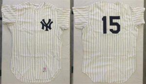 1971 Thurman Munson Yankees game jersey