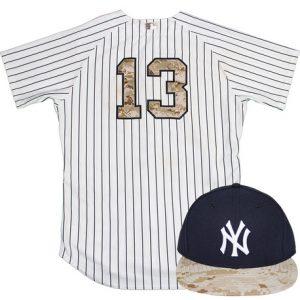 Game worn Alex Rodriguez jersey cap