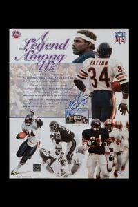 Autographed Walter Payton poster