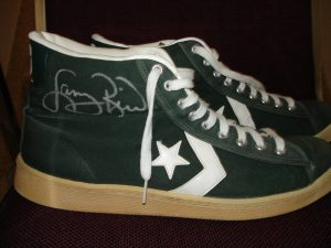 Larry Bird signed shoes