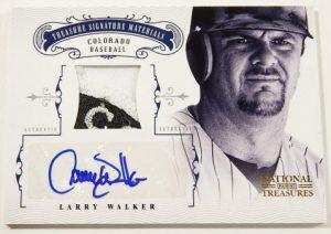 Larry Walker autographed card 2012 Panini