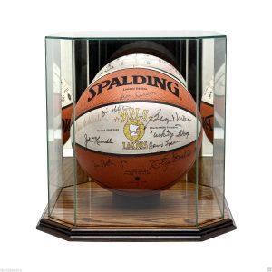 Minneapolis Lakers team signed basketball