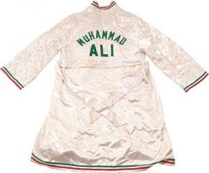 Muhammad Ali 1976 fight robe vs Jean Pierre Coopman