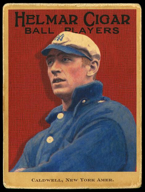 Slim Caldwell Helmar 1914 Yankees