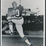 1965 Gale Sayers photo 1966 rookie card