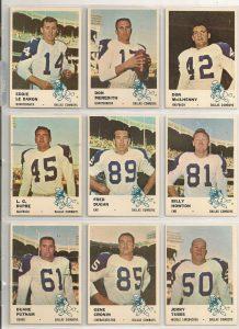Dallas Cowboys 1961 Fleer