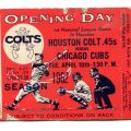 1962 Houston Colt 45s tickeet