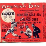 1962 Houston Colt 45s tickeet