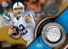 Andrew Luck 2015 Bowman relic