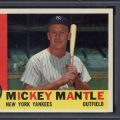 Mickey Mantle 1960 Topps PSA 8