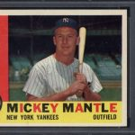 Mickey Mantle 1960 Topps PSA 8