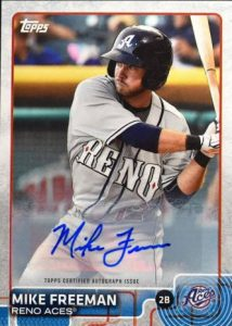 Mike Freeman 2015 Topps Pro Debut autograph